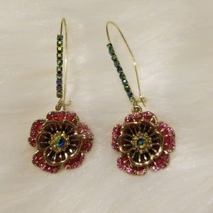 Betsey Johnson Flower Drop earrings